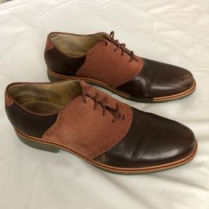 Cole Haan Grand OS Suede/Leather Wingtip Brown